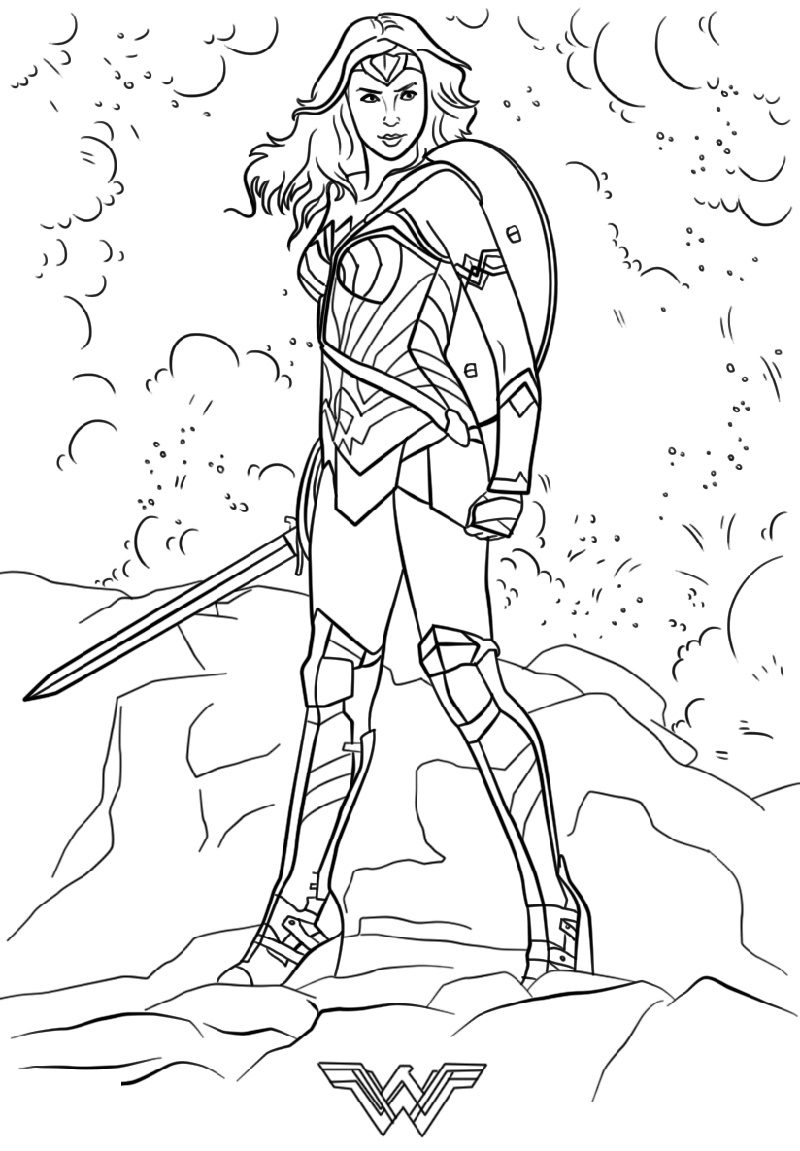 Wonder Woman Coloring Pages Super Hero