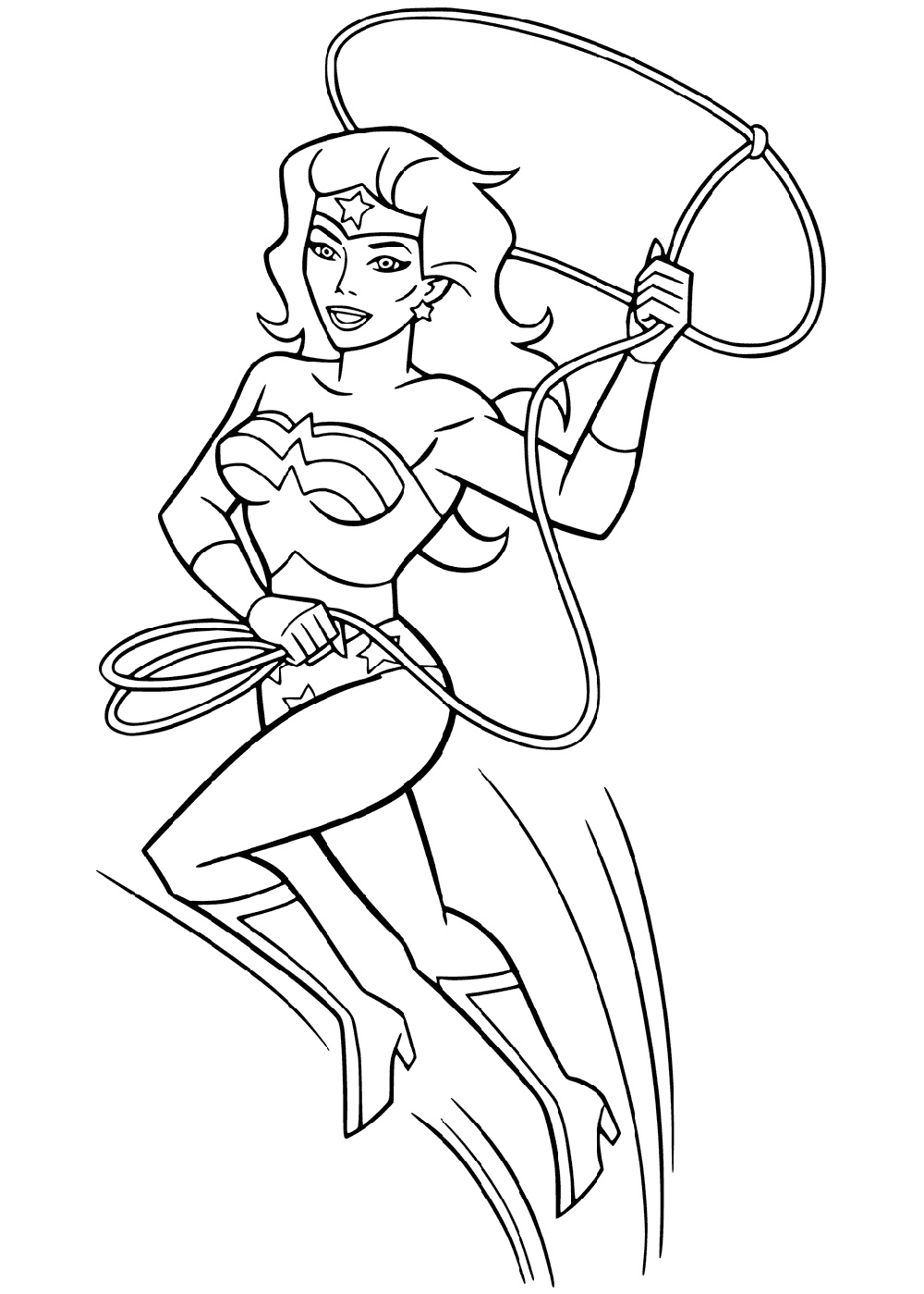 Wonder Woman Coloring Pages To Print