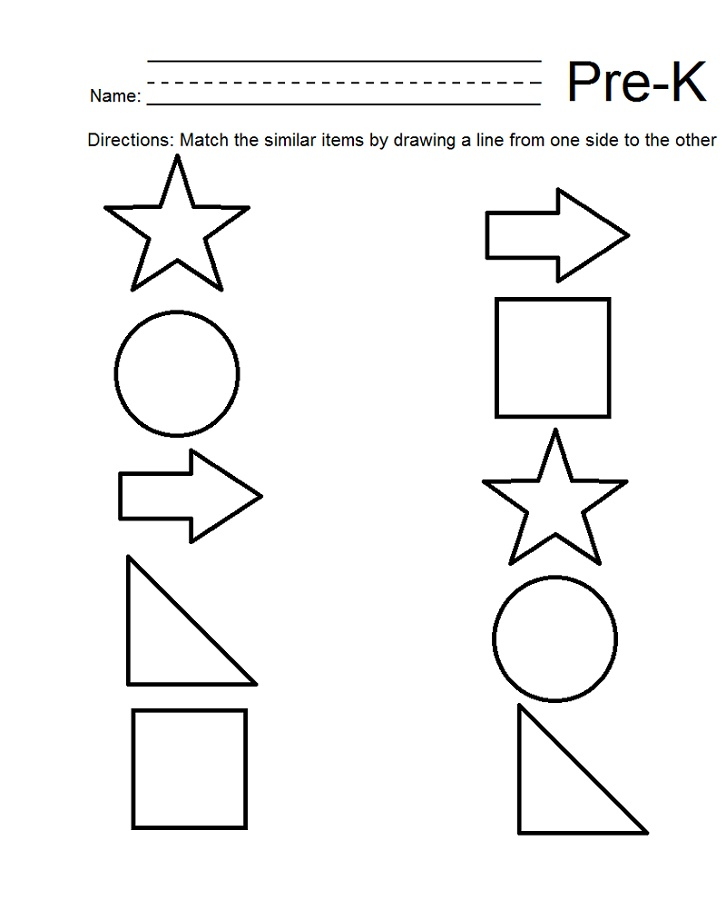 Worksheets For 4 Year Olds Free Printable Shapes