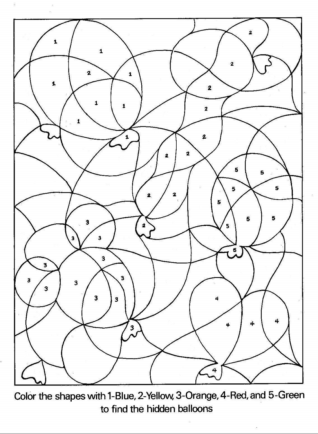 Activity Sheets For 5 Year Olds Coloring