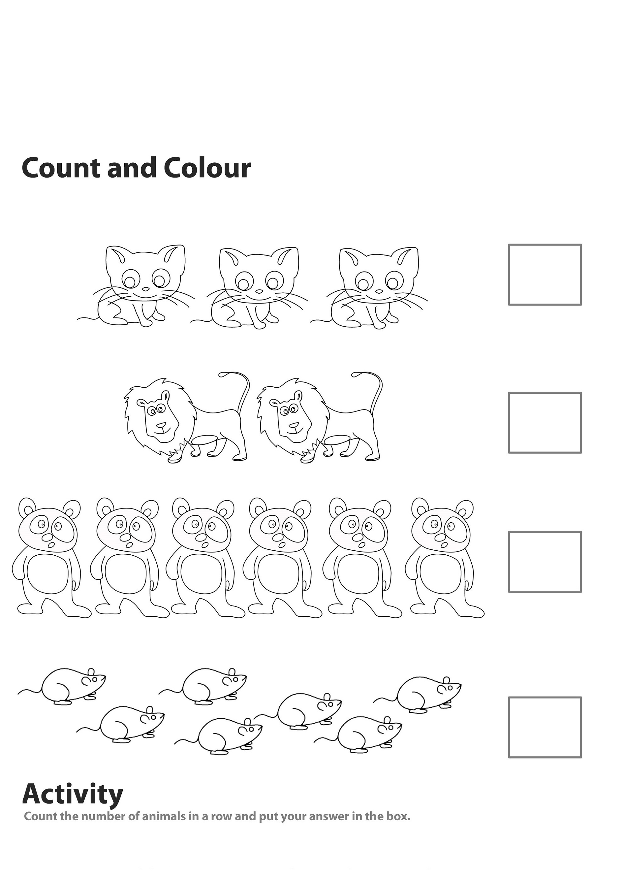 Activity Sheets For 5 Year Olds Math