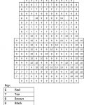 Activity Sheets For Elementary Students Color By Numbers