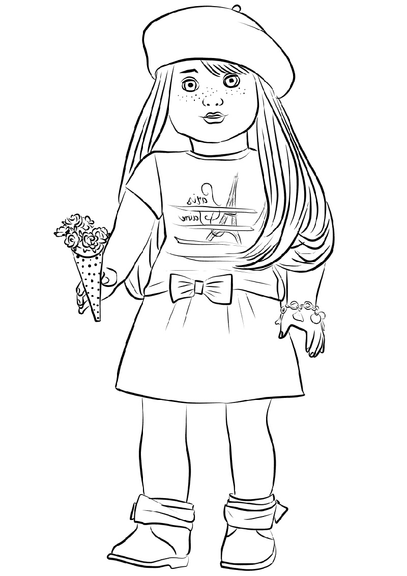 American Girl Doll Coloring Pages Grace Thomas