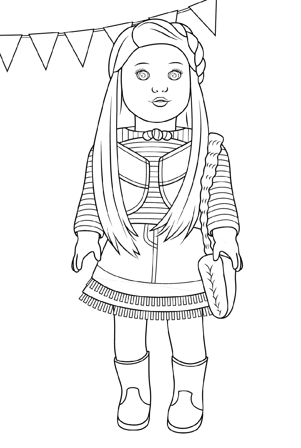 American Girl Doll Coloring Pages McKenna