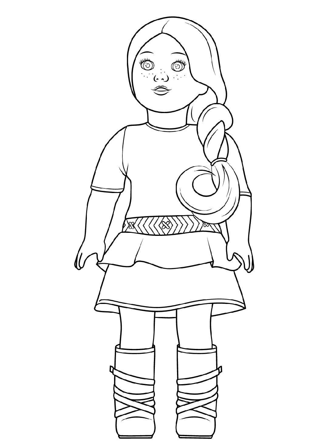 American Girl Doll Coloring Pages Saige