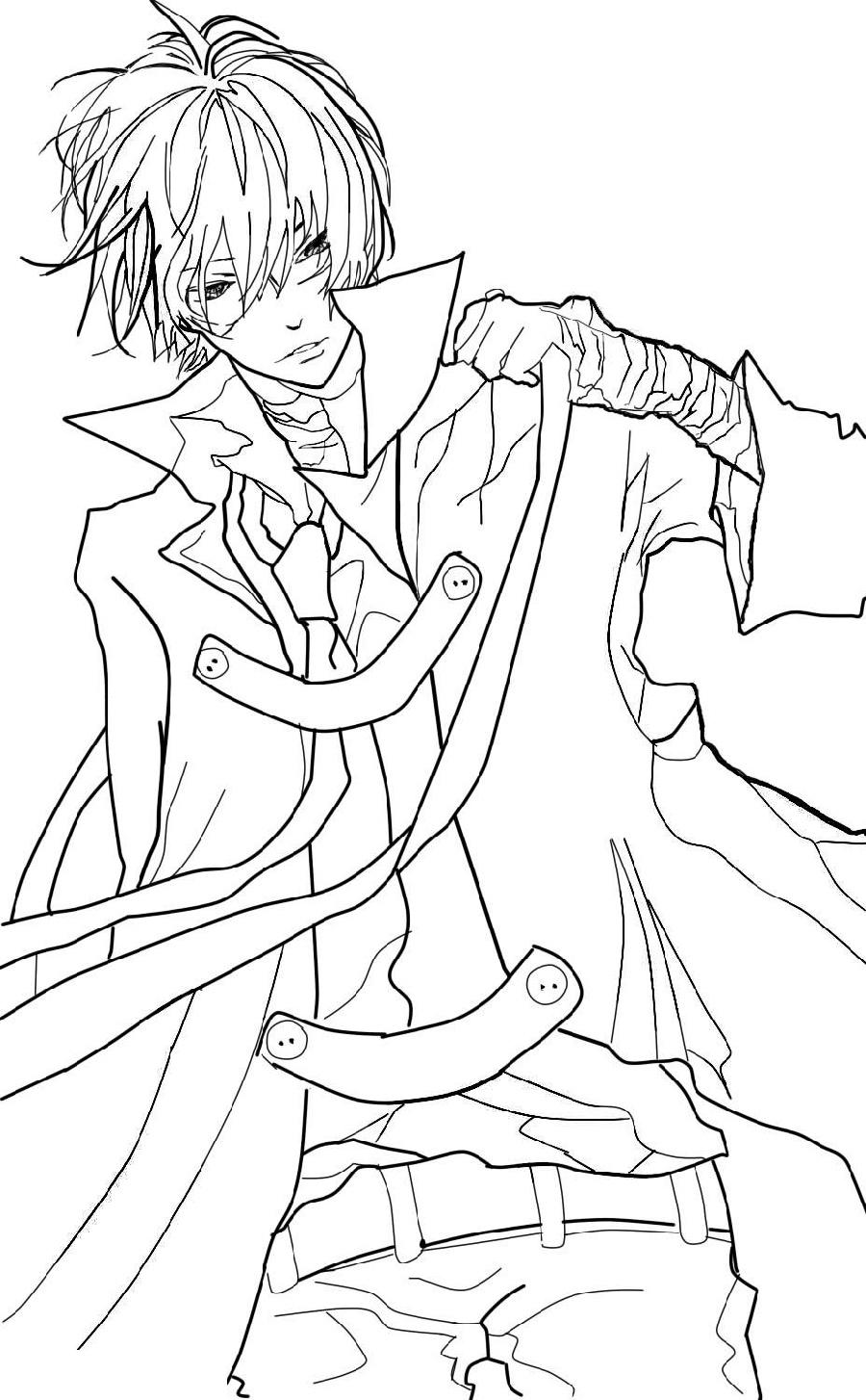 Anime Coloring Boy