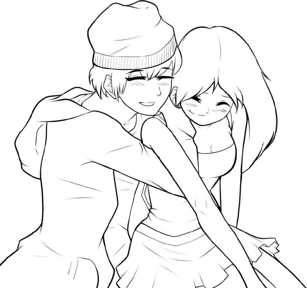 Anime Coloring Couple
