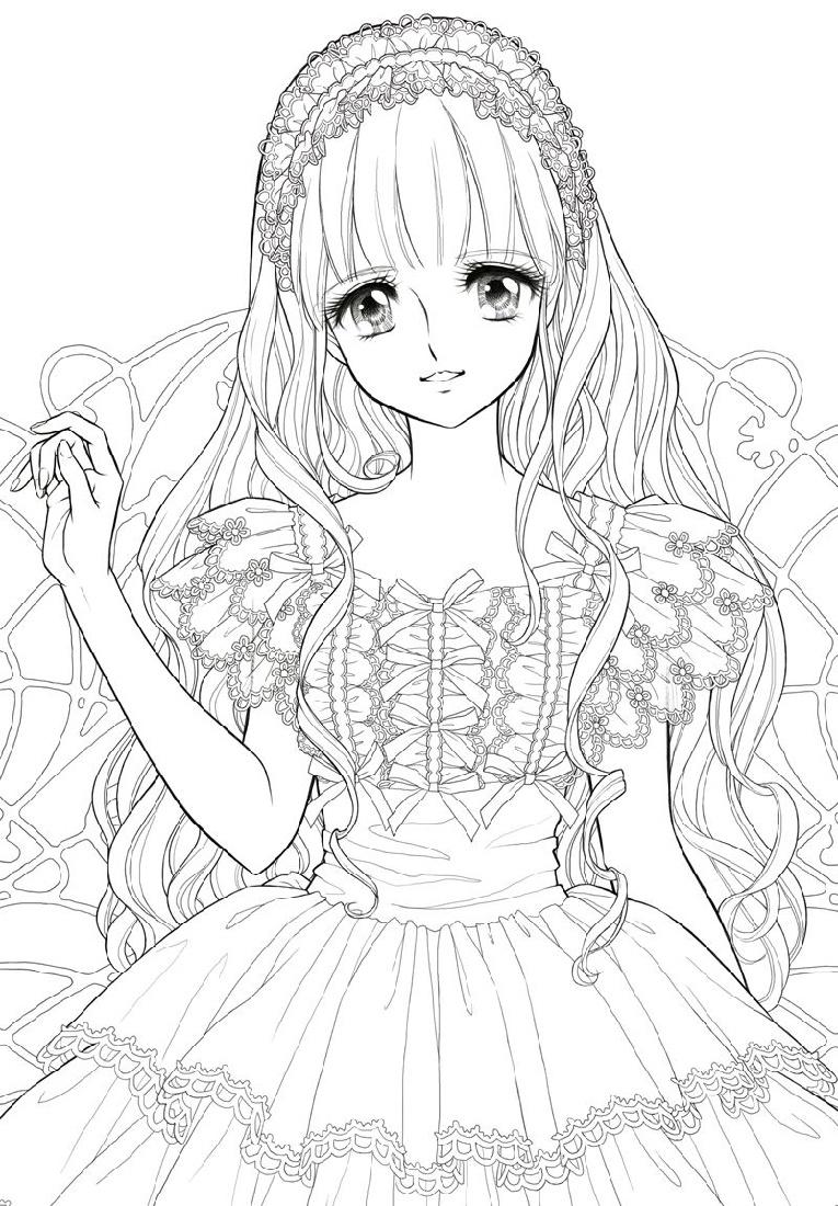Anime Coloring Girl