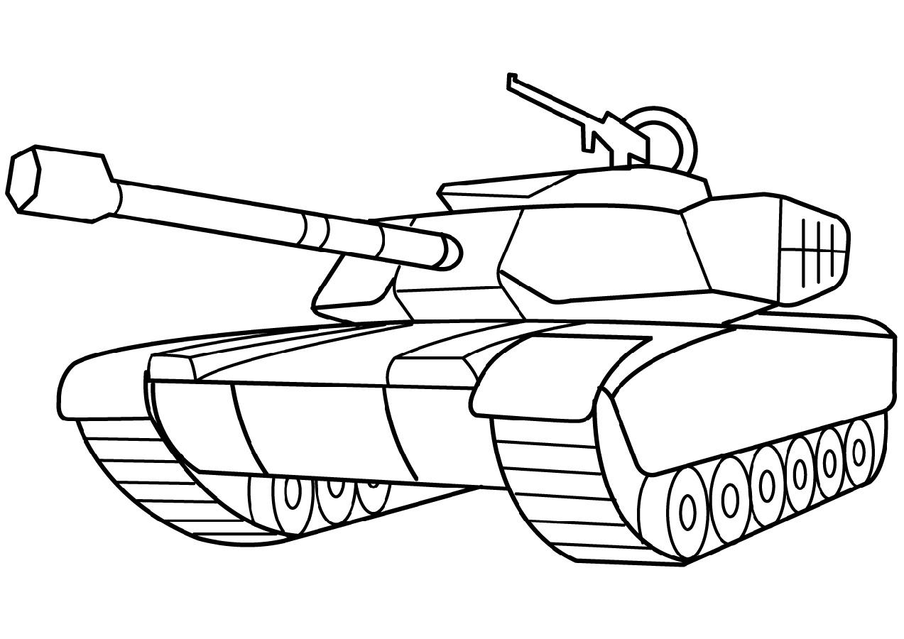 Army Tank Coloring Pages Military