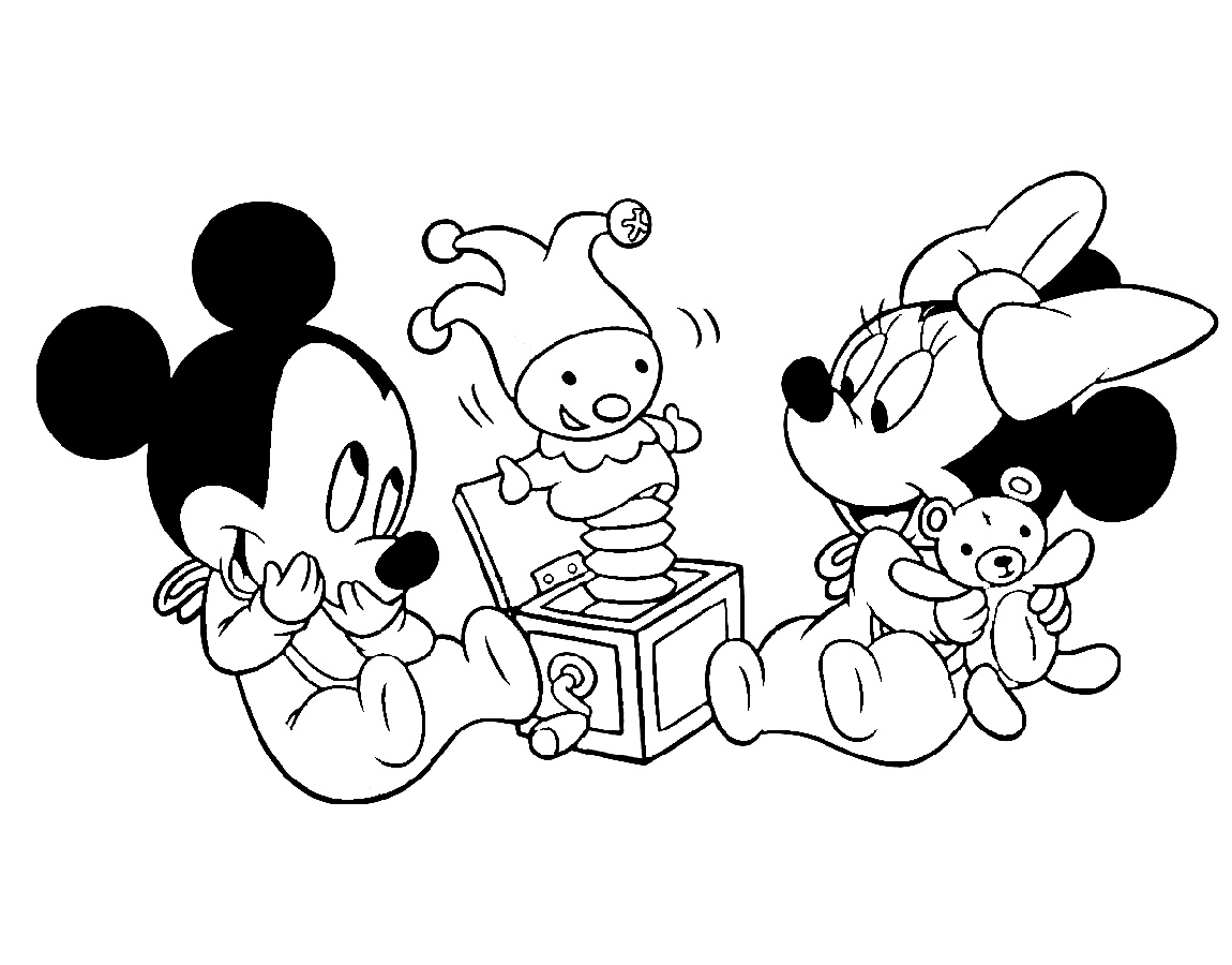 Baby Mickey Mouse Coloring Pages And Minnie Mouse