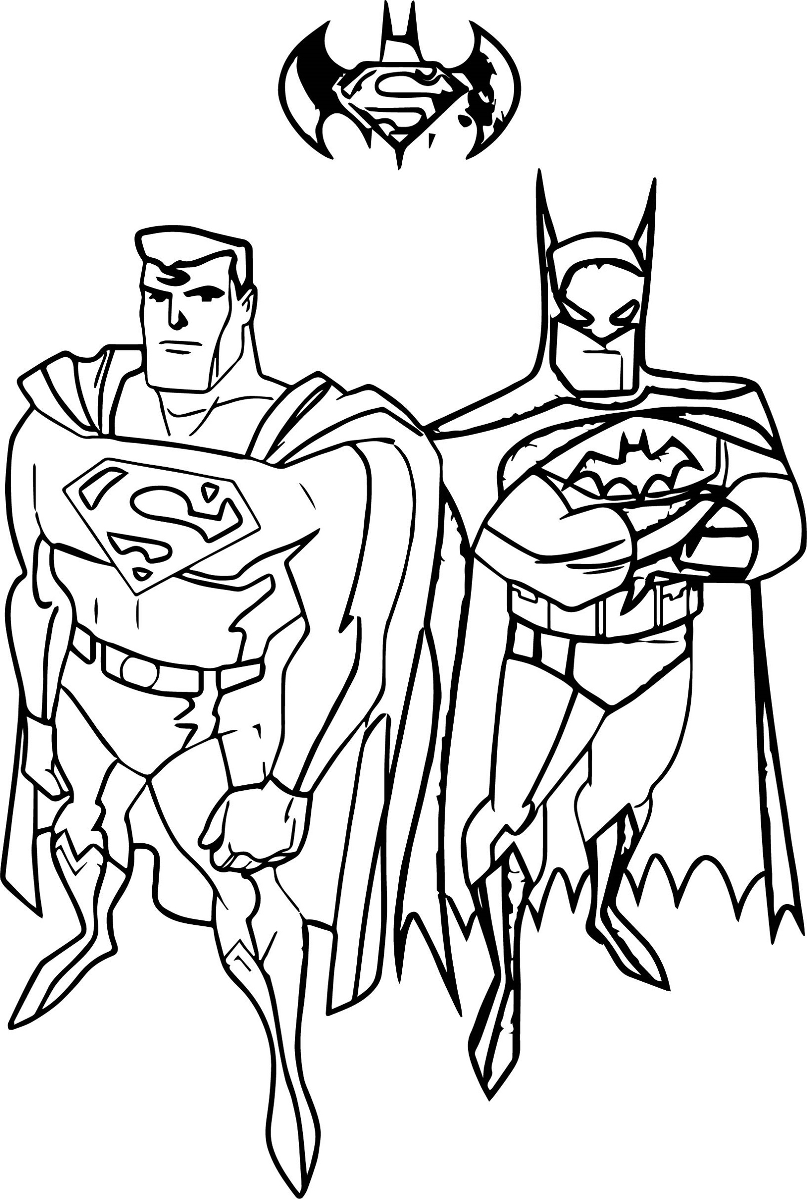 Batman Vs Superman Coloring Pages Free