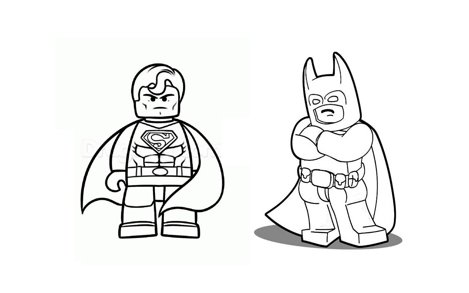 Batman Vs Superman Coloring Pages Lego