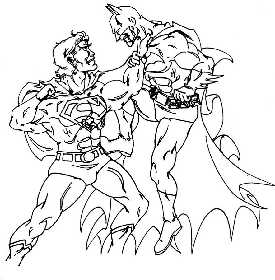 Batman Vs Superman Coloring Pages Printable