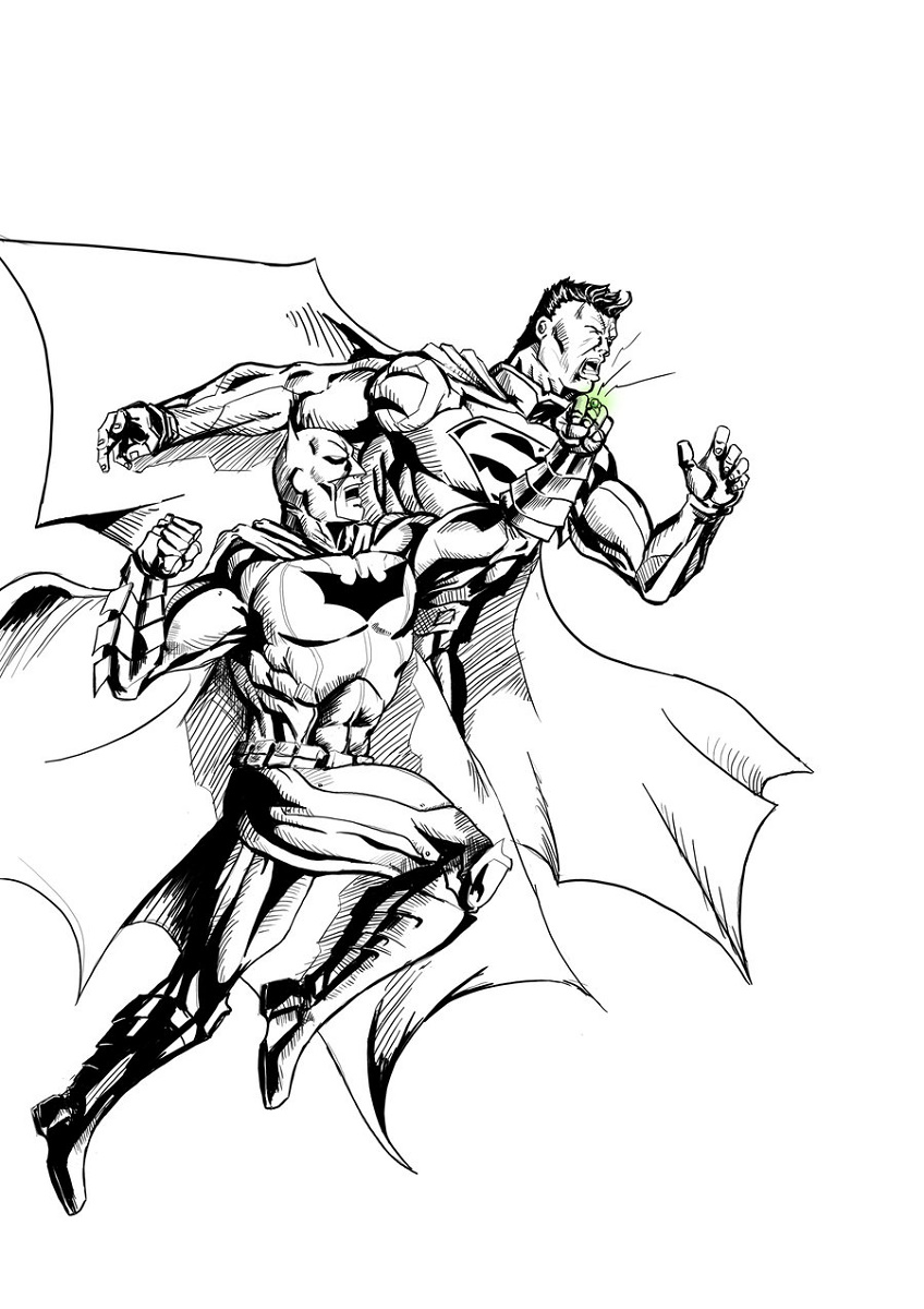 Batman Vs Superman Coloring Pages Sketch