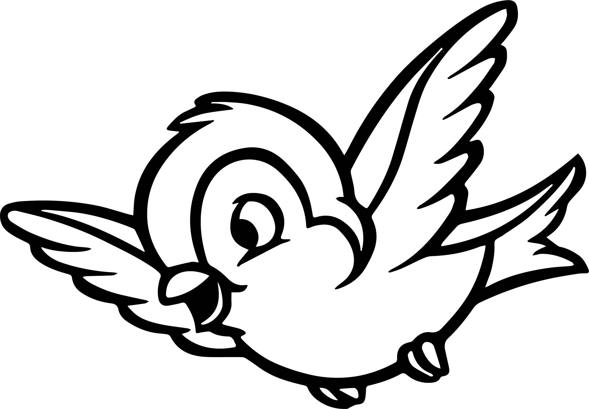 Bird Coloring Pages Snow White