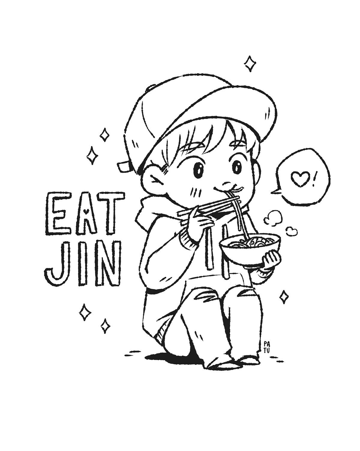 Bts Coloring Pages Cartoon