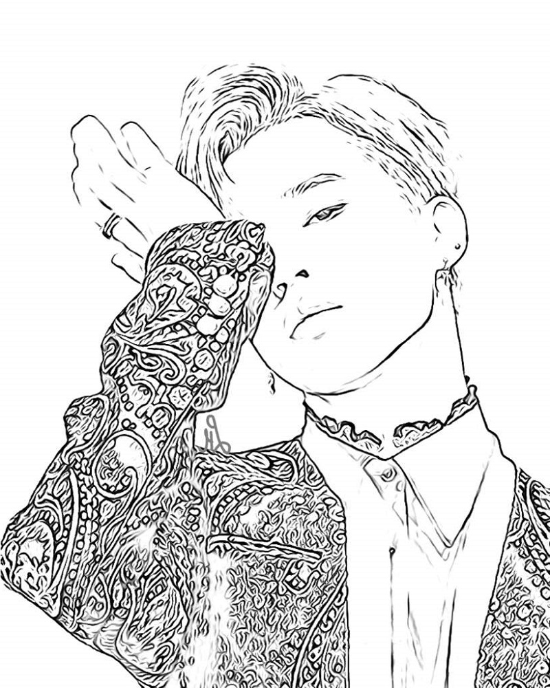 Bts Coloring Pages Kpop
