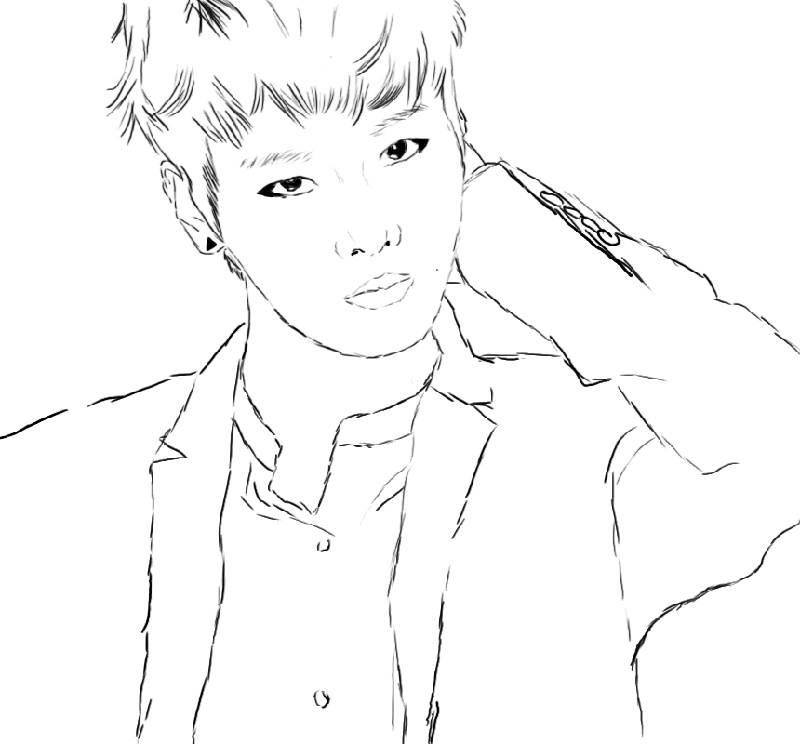 Bts Coloring Pages Printable