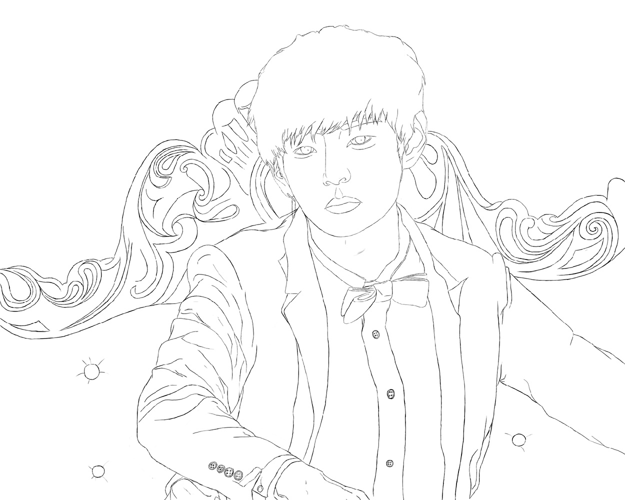 Bts Coloring Pages V