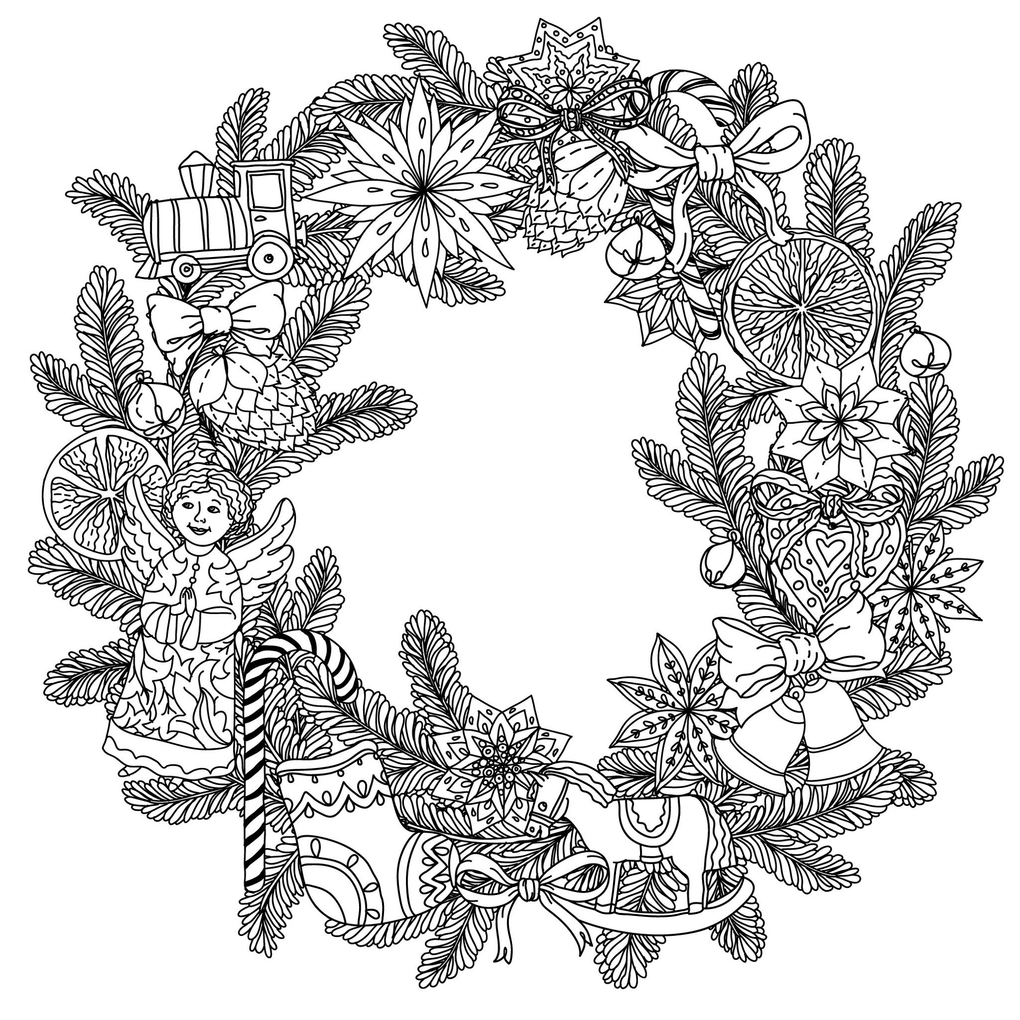Christmas Coloring Pages For Adults Printable
