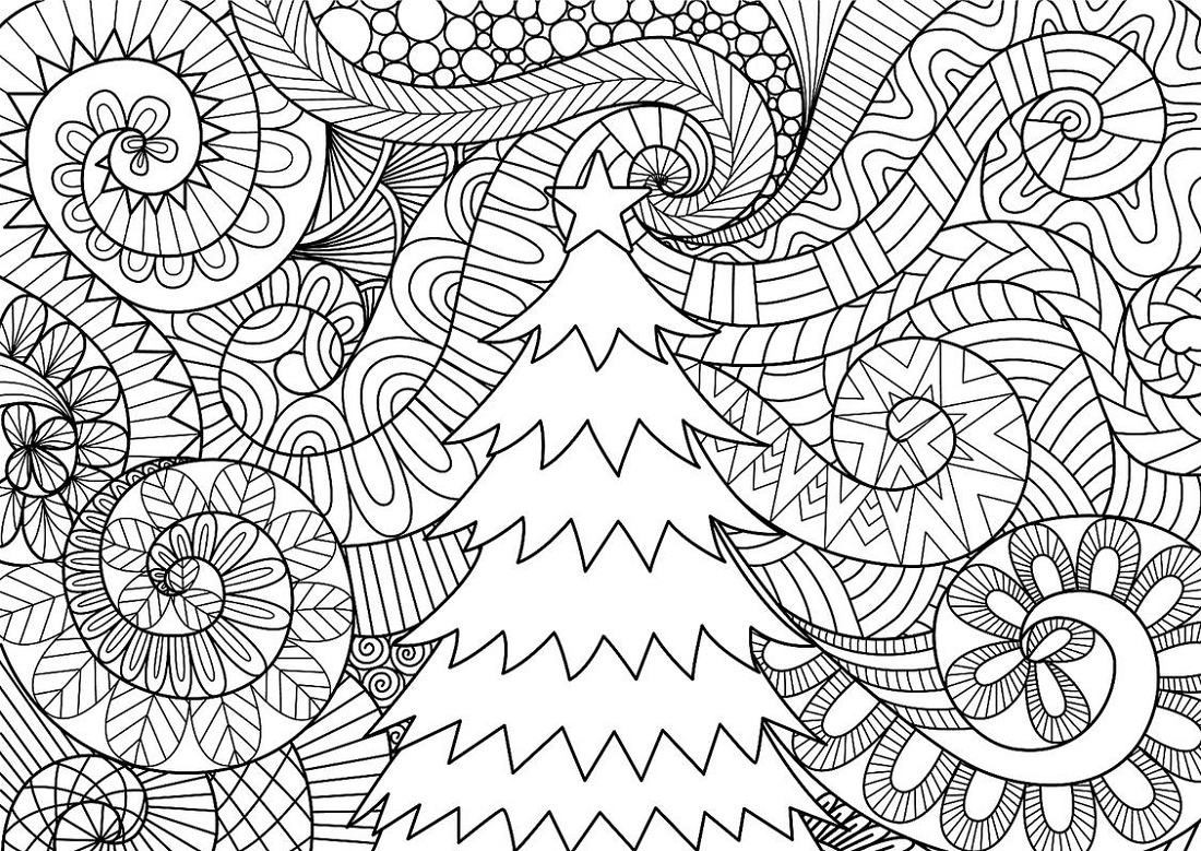 Christmas Coloring Pages For Adults To Print