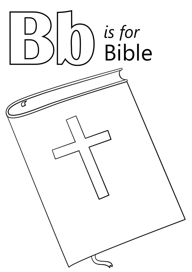 Coloring Bible B is for Bible