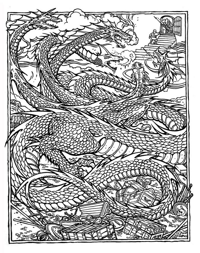 Coloring Pages For Adults To Print Dragon