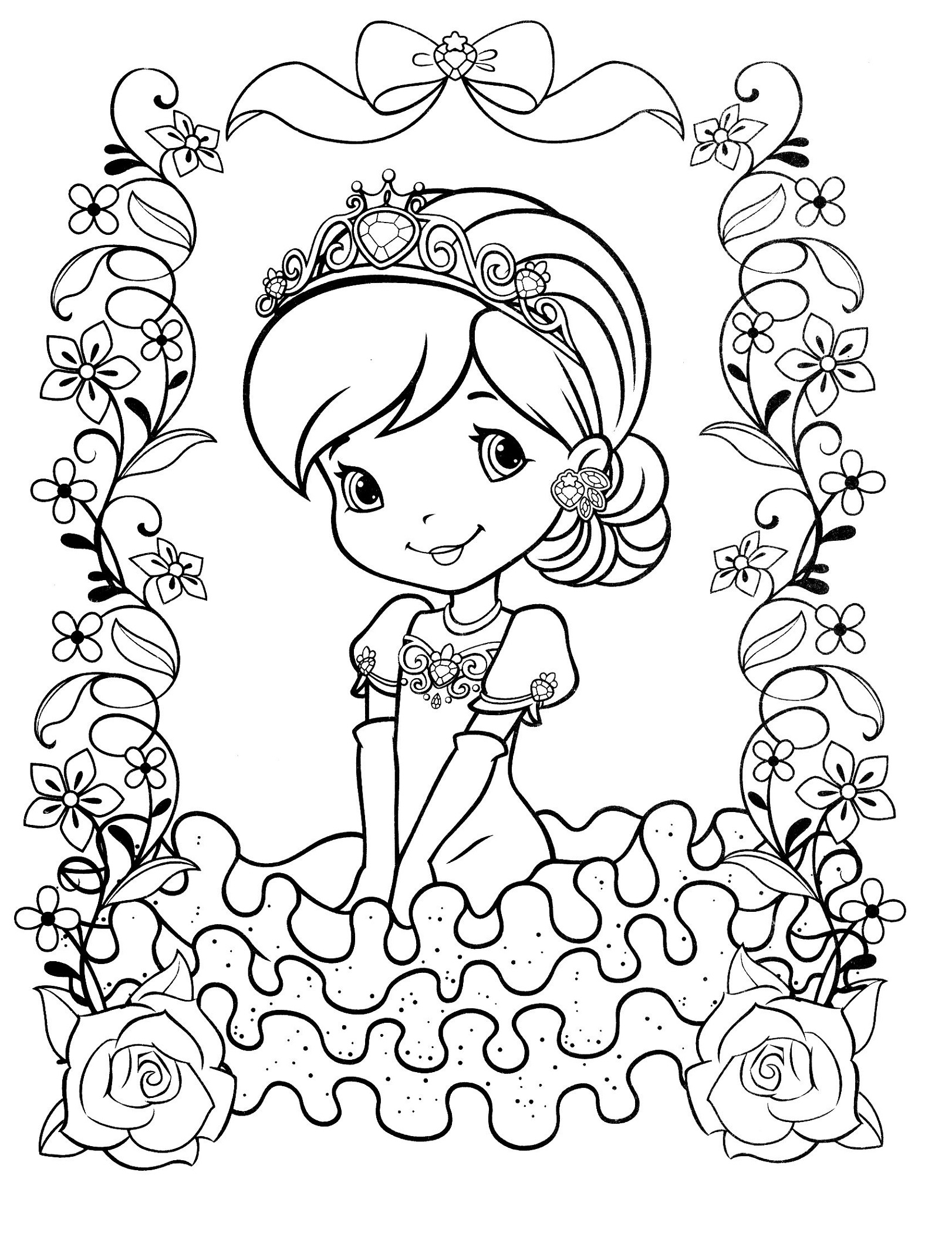 Coloring Sheets For Girls Princess