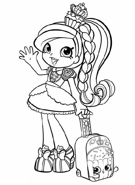 Coloring Sheets For Girls Shopkins