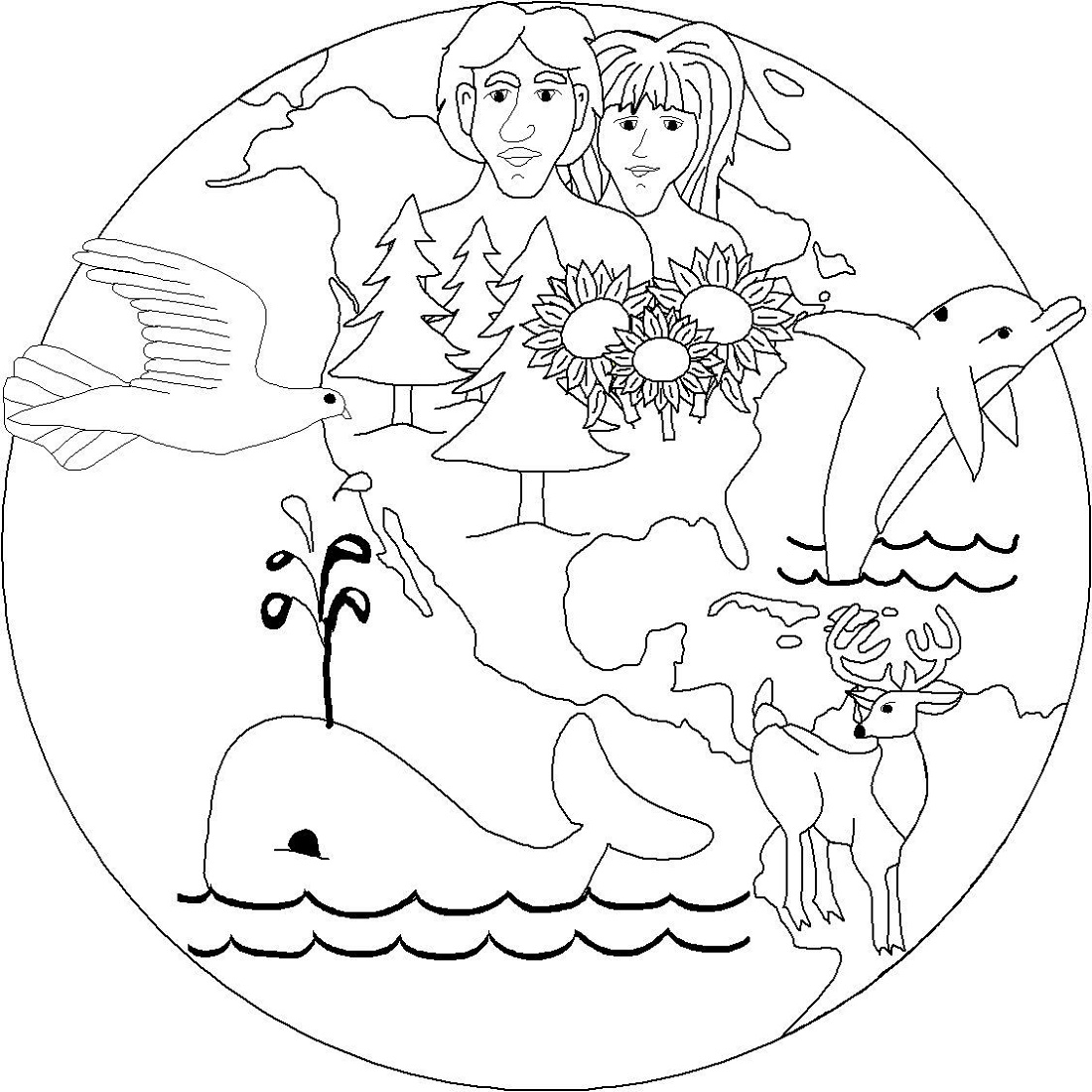 Creation Coloring Pages Bible