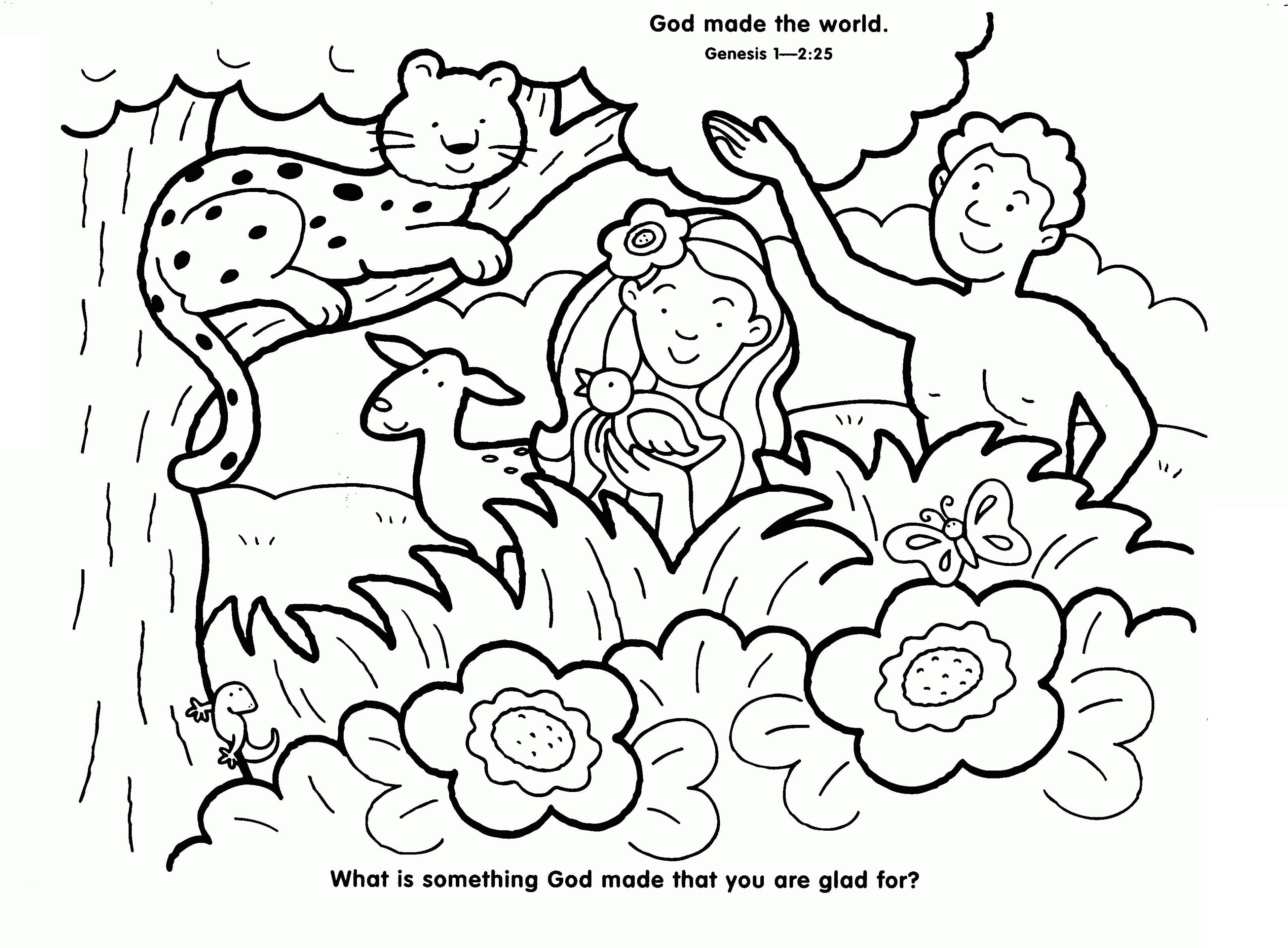 Creation Coloring Pages God Made The World