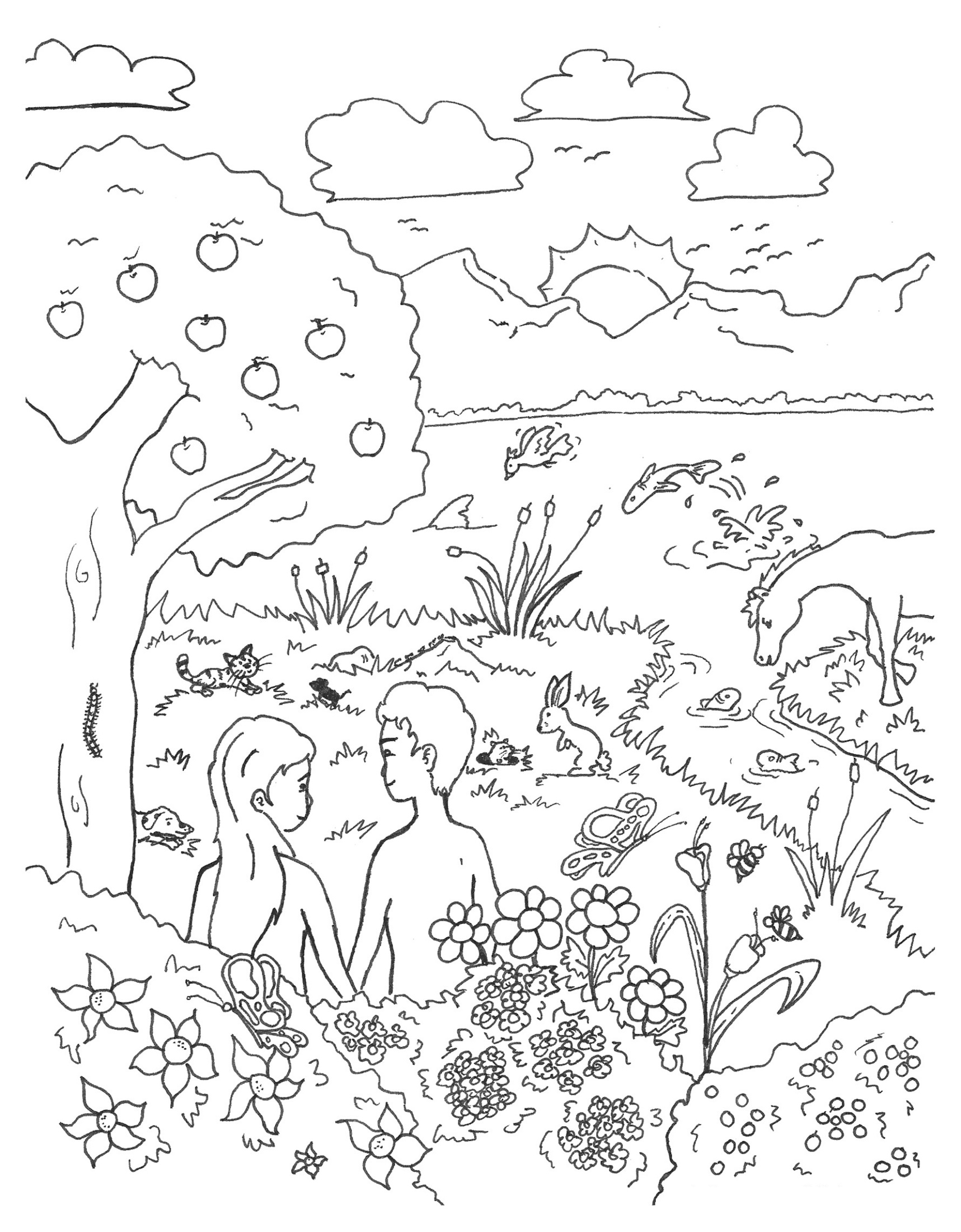 Creation Coloring Pages God