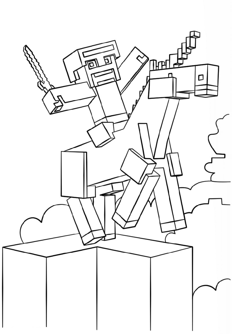 Dantdm Coloring Pages Free