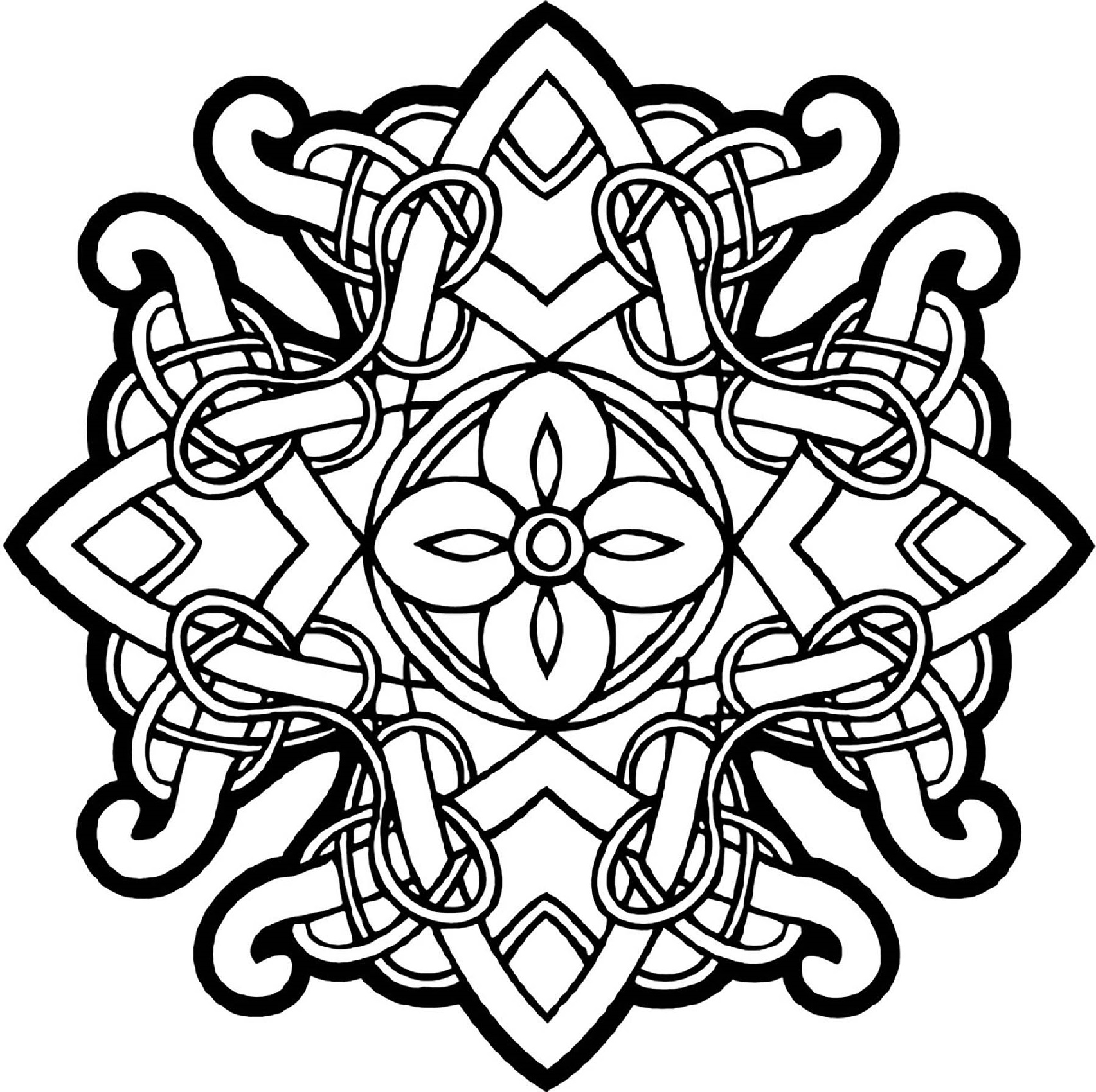Design Coloring Pages Celtic