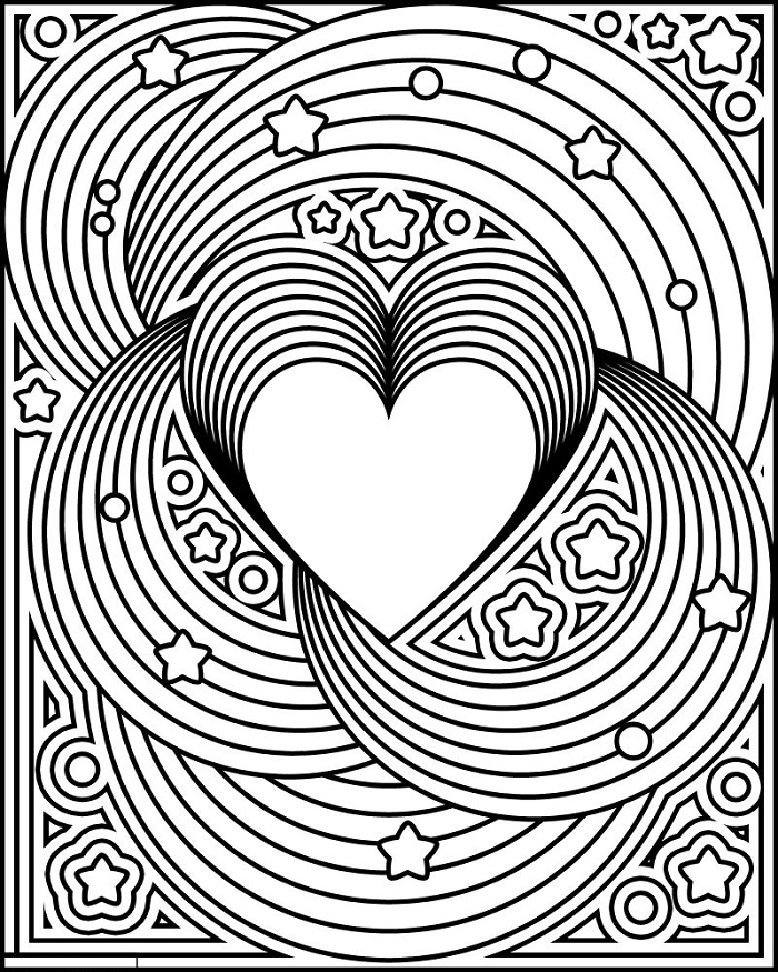 Design Coloring Pages Heart