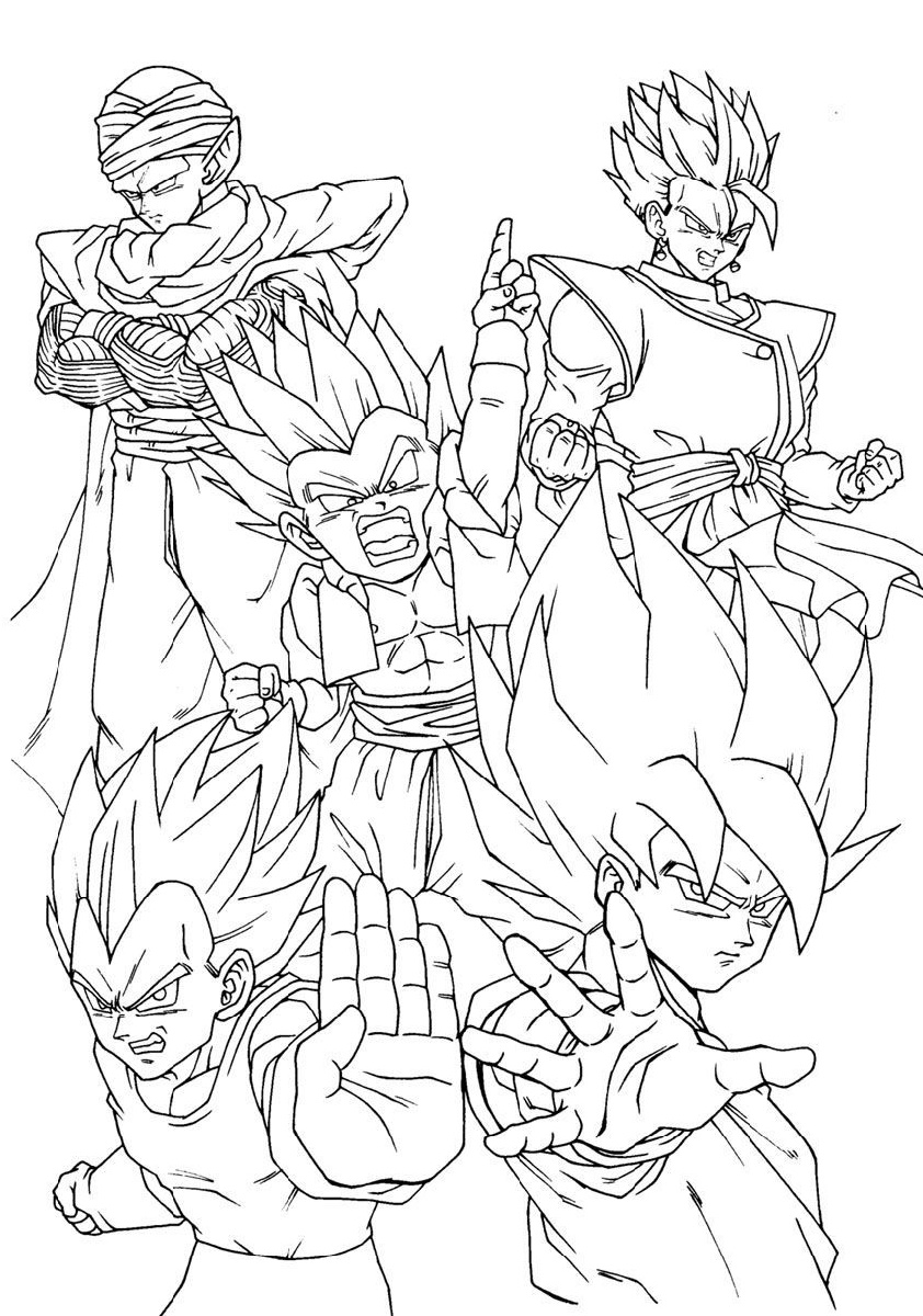 Dragon Ball Super Coloring Pages Characters