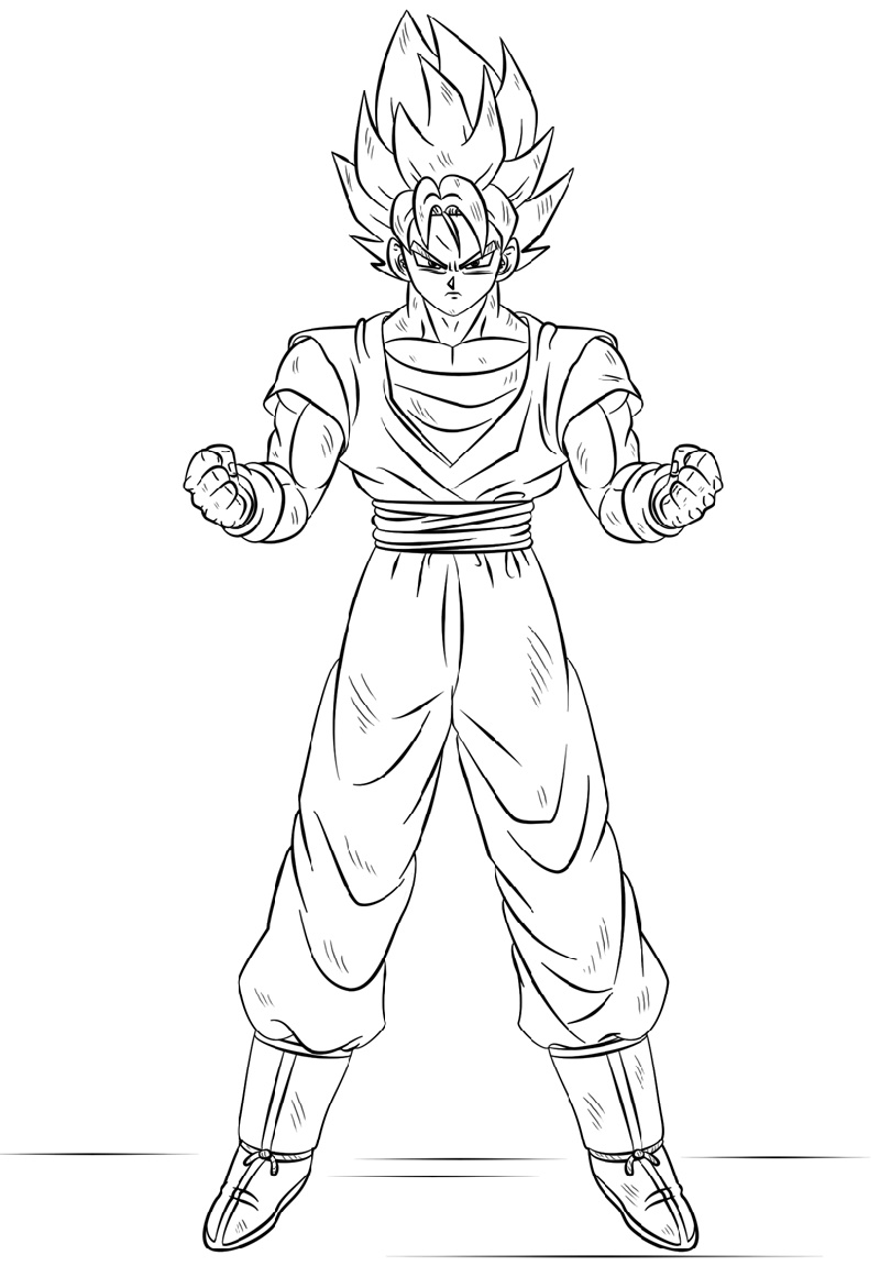 Dragon Ball Super Coloring Pages Free