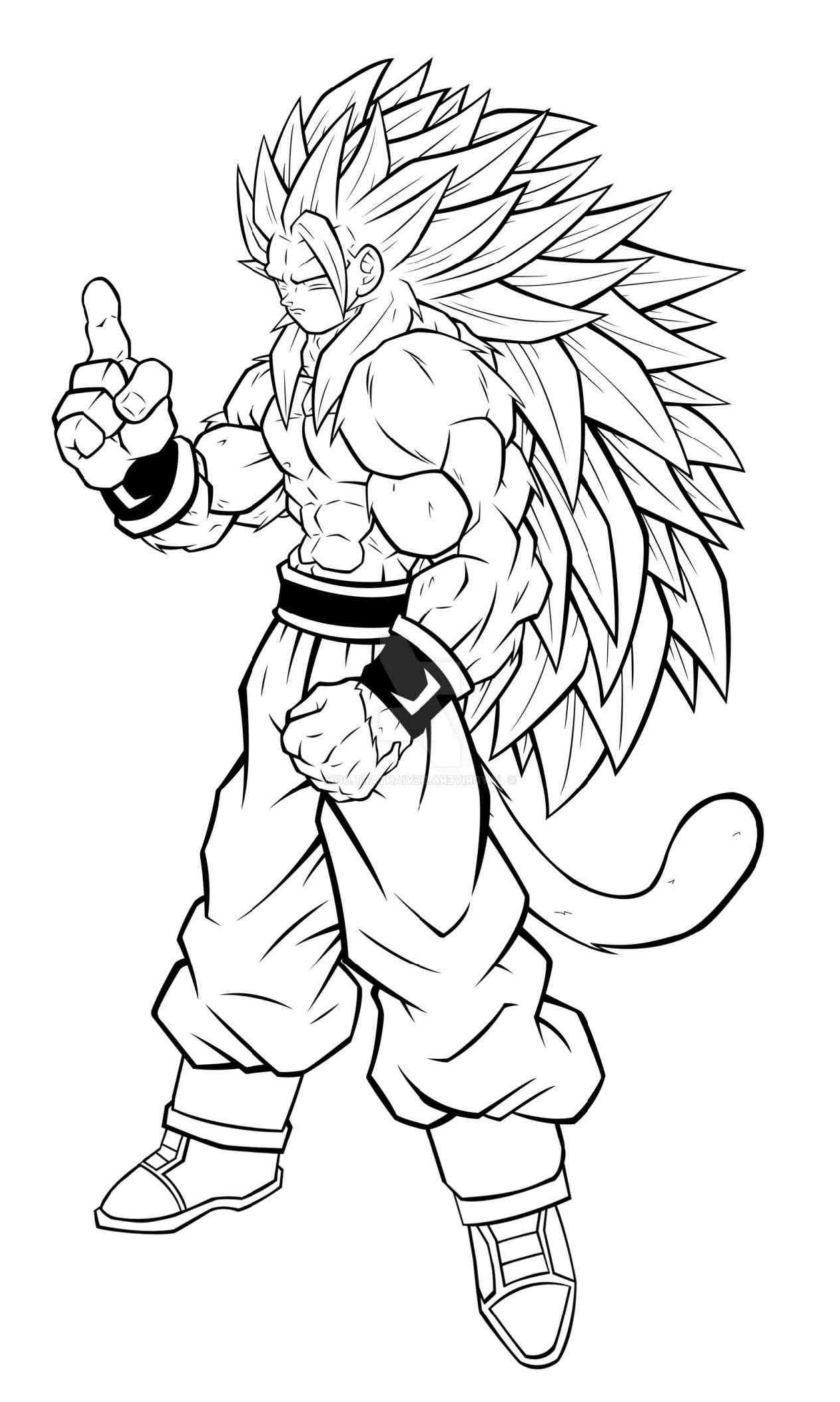 Dragon Ball Super Coloring Pages Goku Super Saiyan