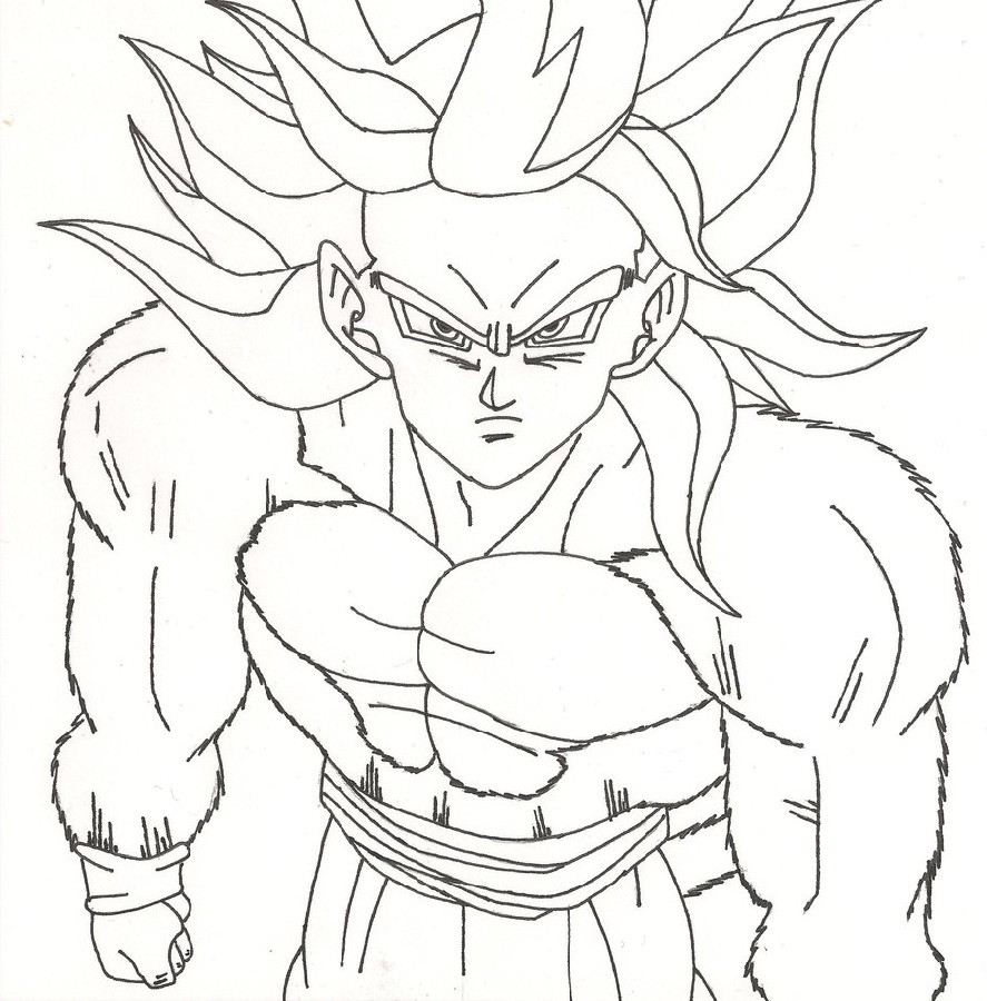 Dragon Ball Super Coloring Pages Goku
