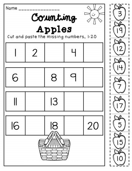 Easy Math Sheets Numbers