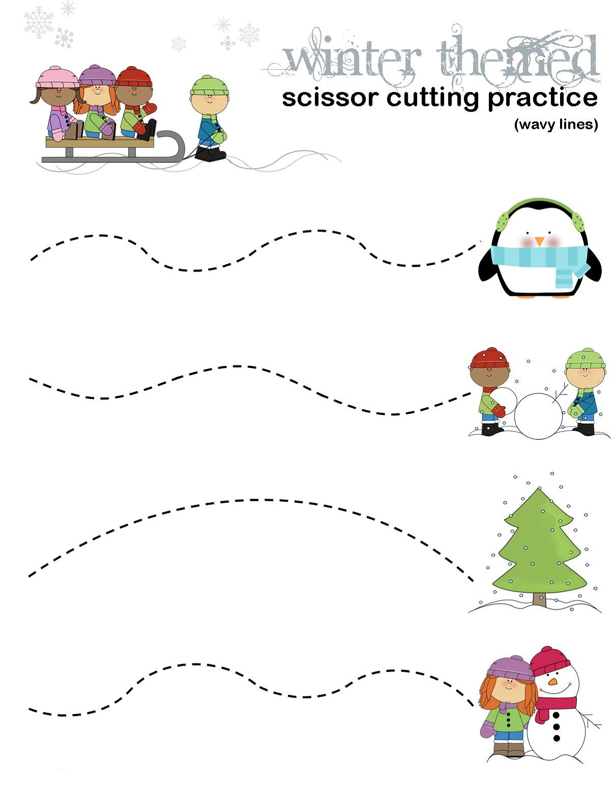Educational Activities For 3 Year Olds Printable Cutting Practice