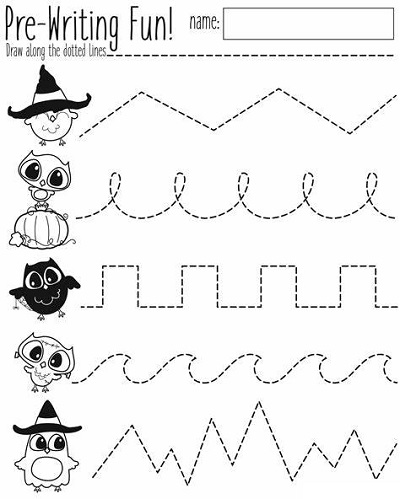 Educational Activities For 3 Year Olds Printable Tracing