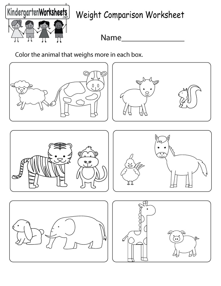 Educational Activities For 3 Year Olds Printable Weight Comparison