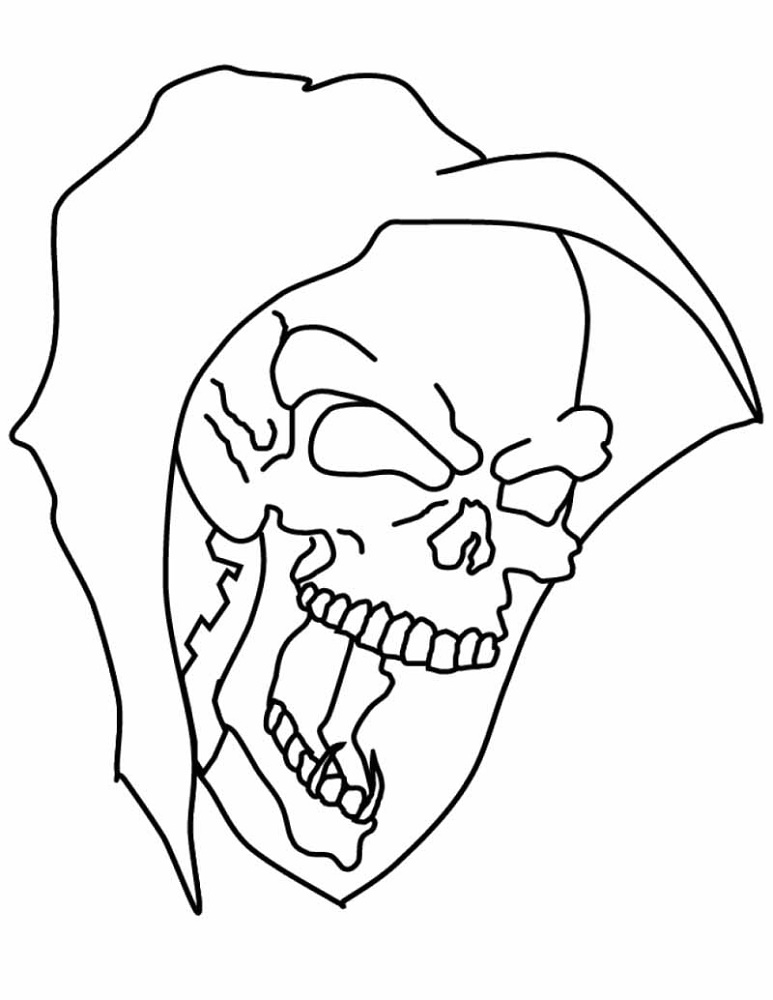 Evil Skull Coloring Pages