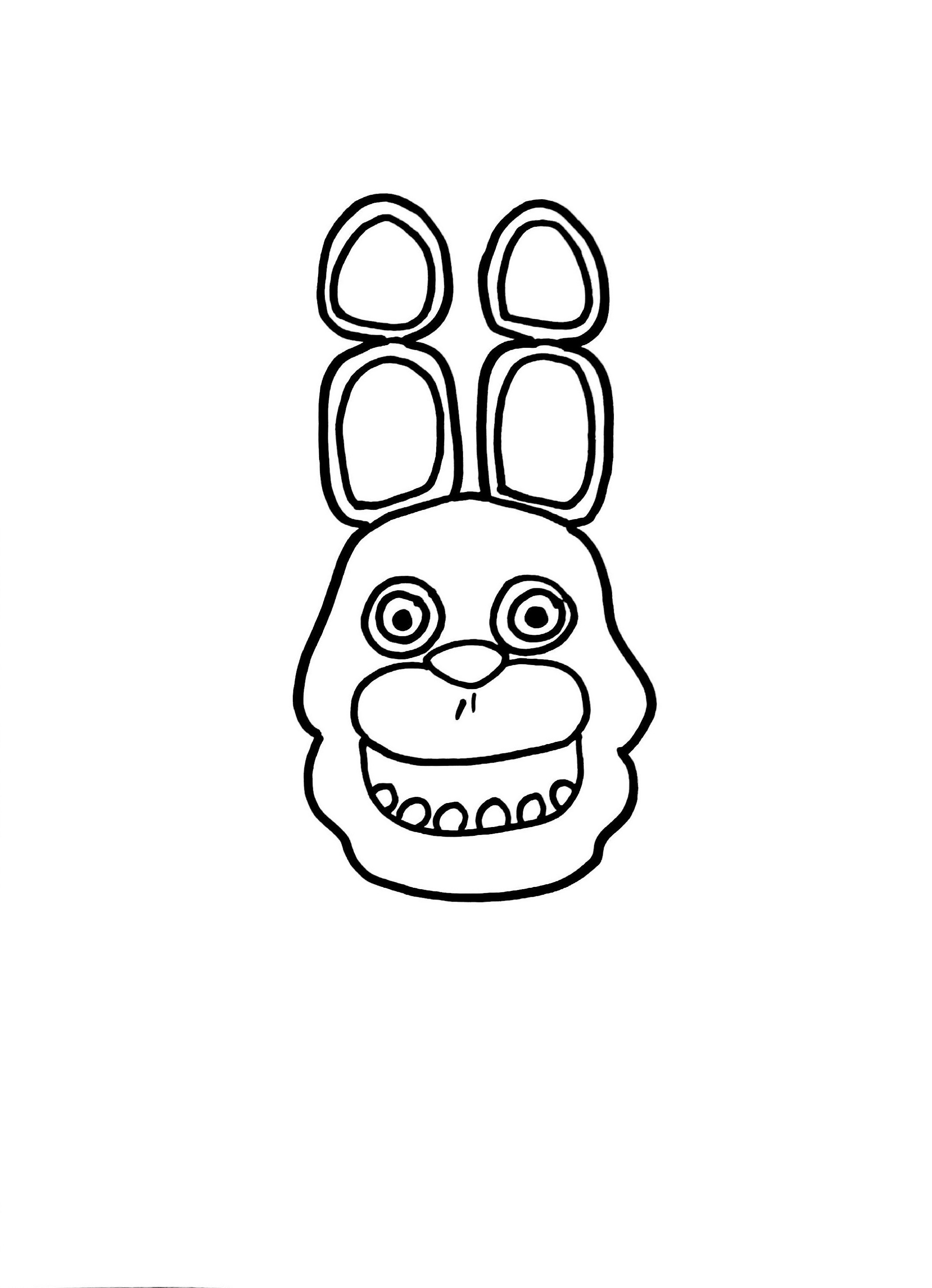 Five Nights At Freddy's Coloring Bonnie The Bunny