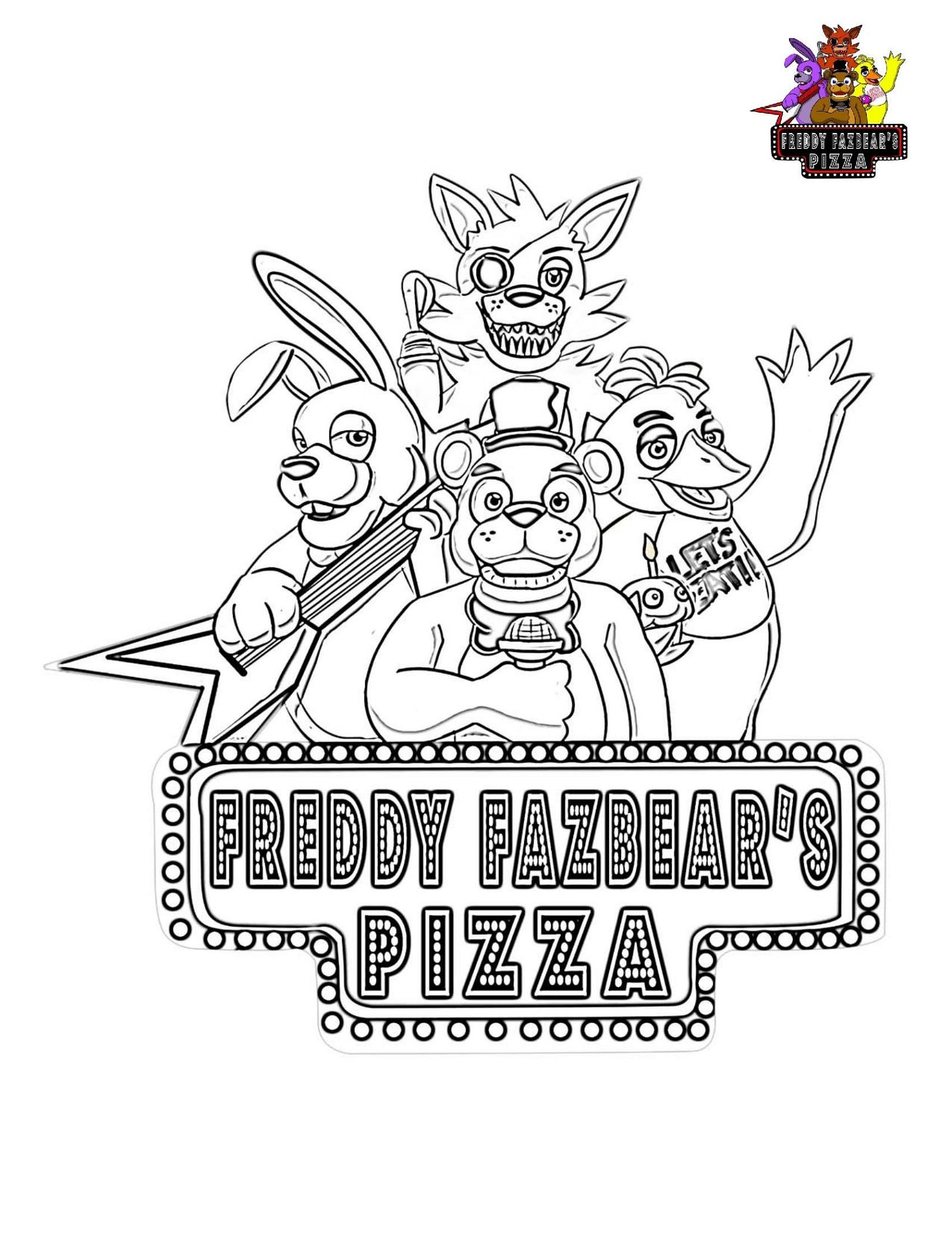 Five Nights At Freddy's Coloring Freddy Fazbear