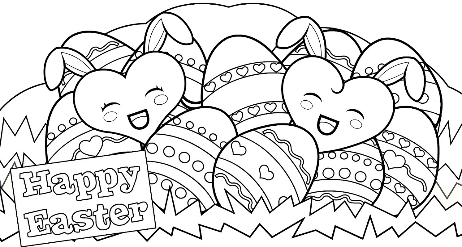Free Easter Coloring Pages Easter Eggs