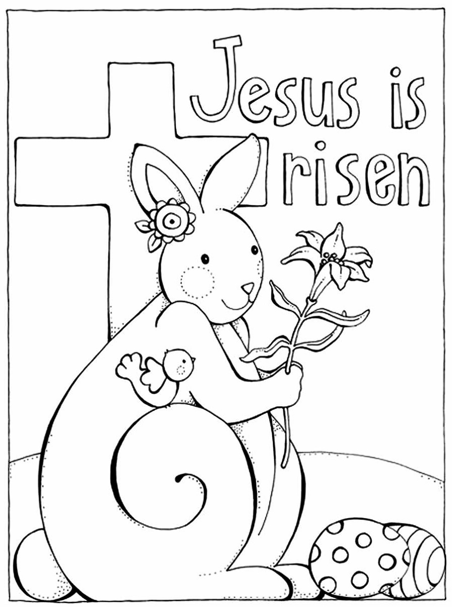 Free Easter Coloring Pages Religious