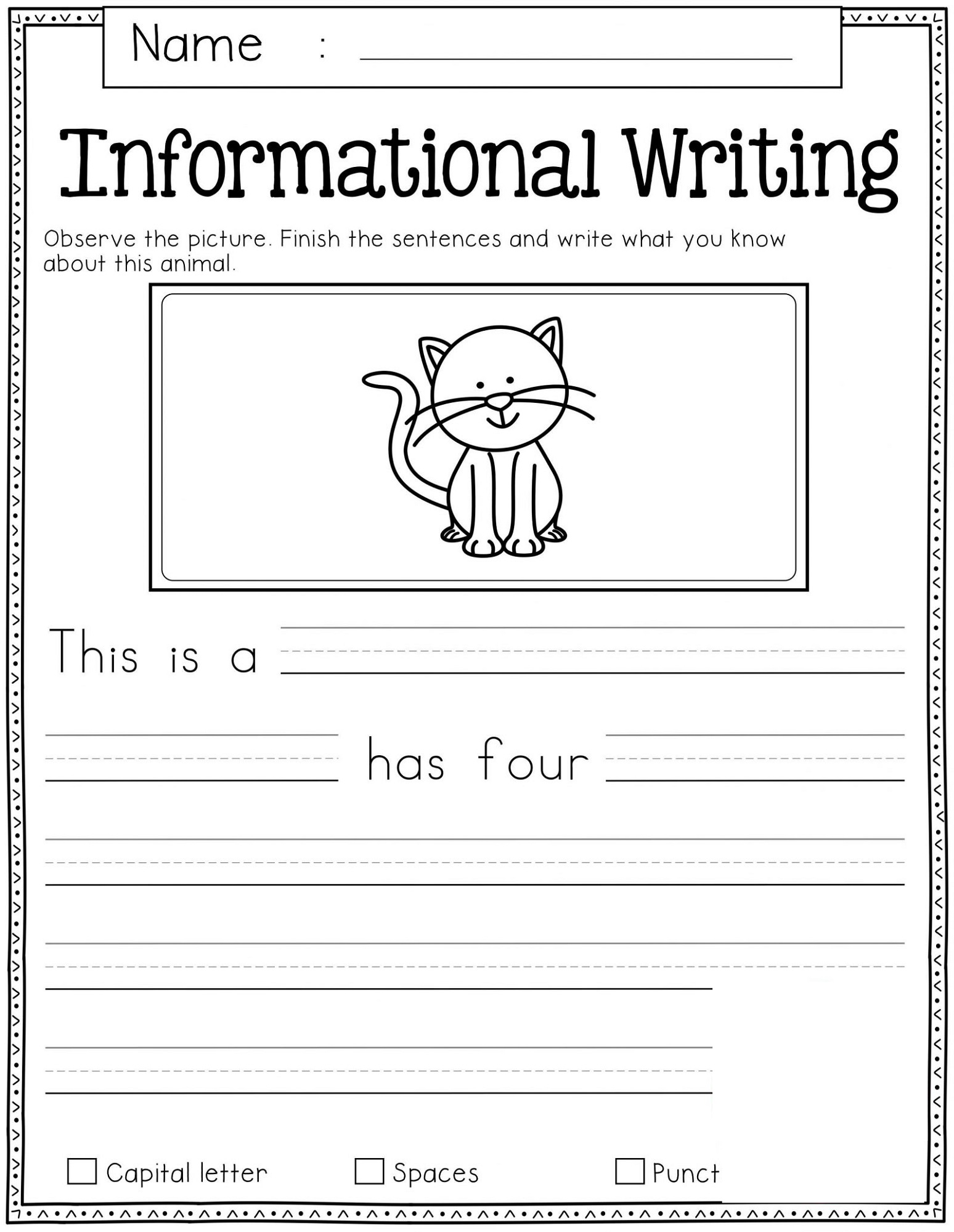 Free Homework Worksheets Writing
