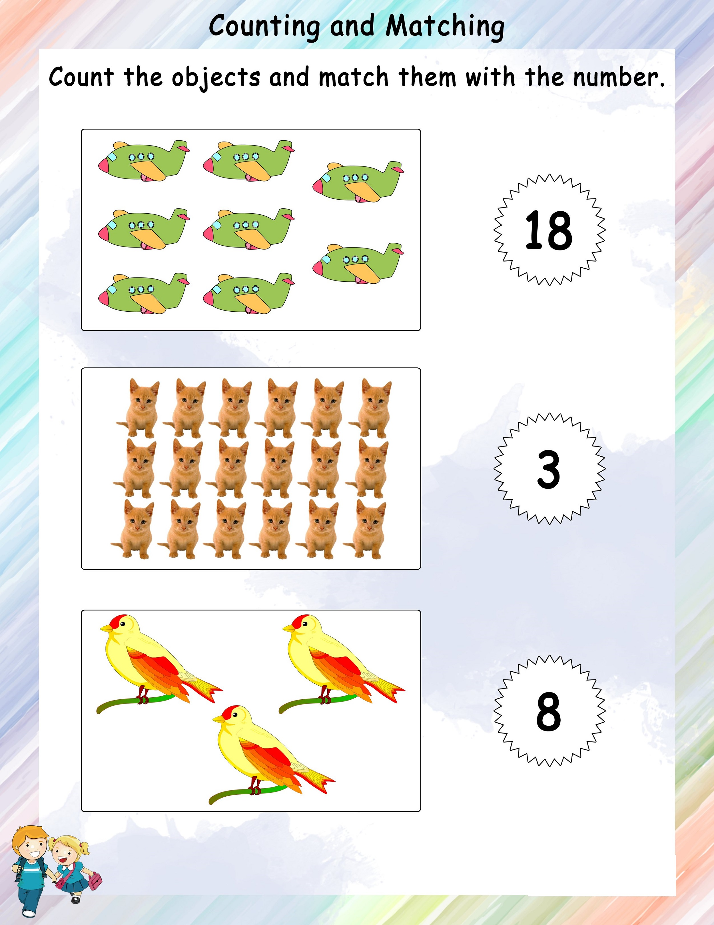 Free Math Worksheets To Print Counting